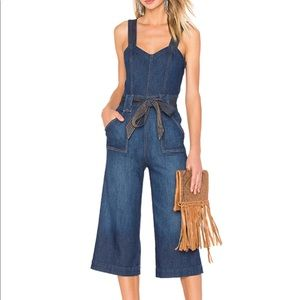 7 For All Mankind Culotte Denim Jumpsuit, Size 27